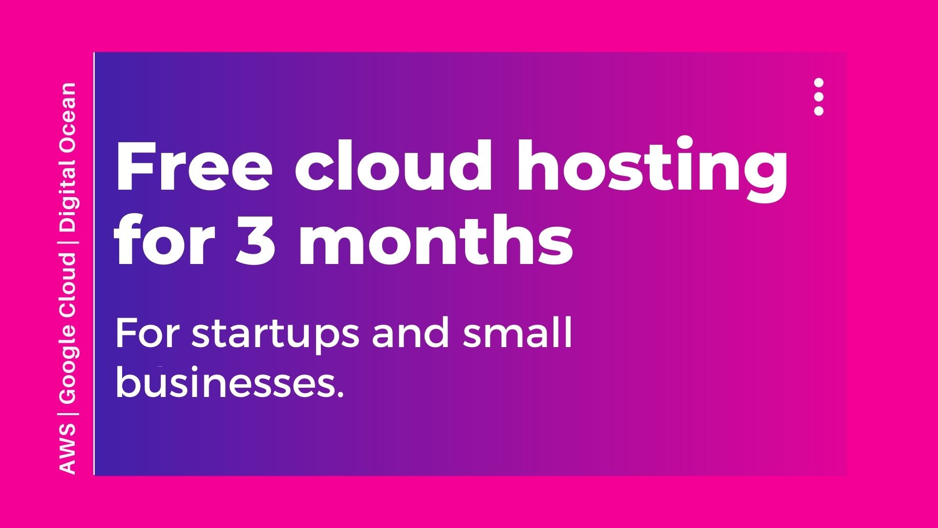 Free Cloud Hosting for Three Months - designs.codes