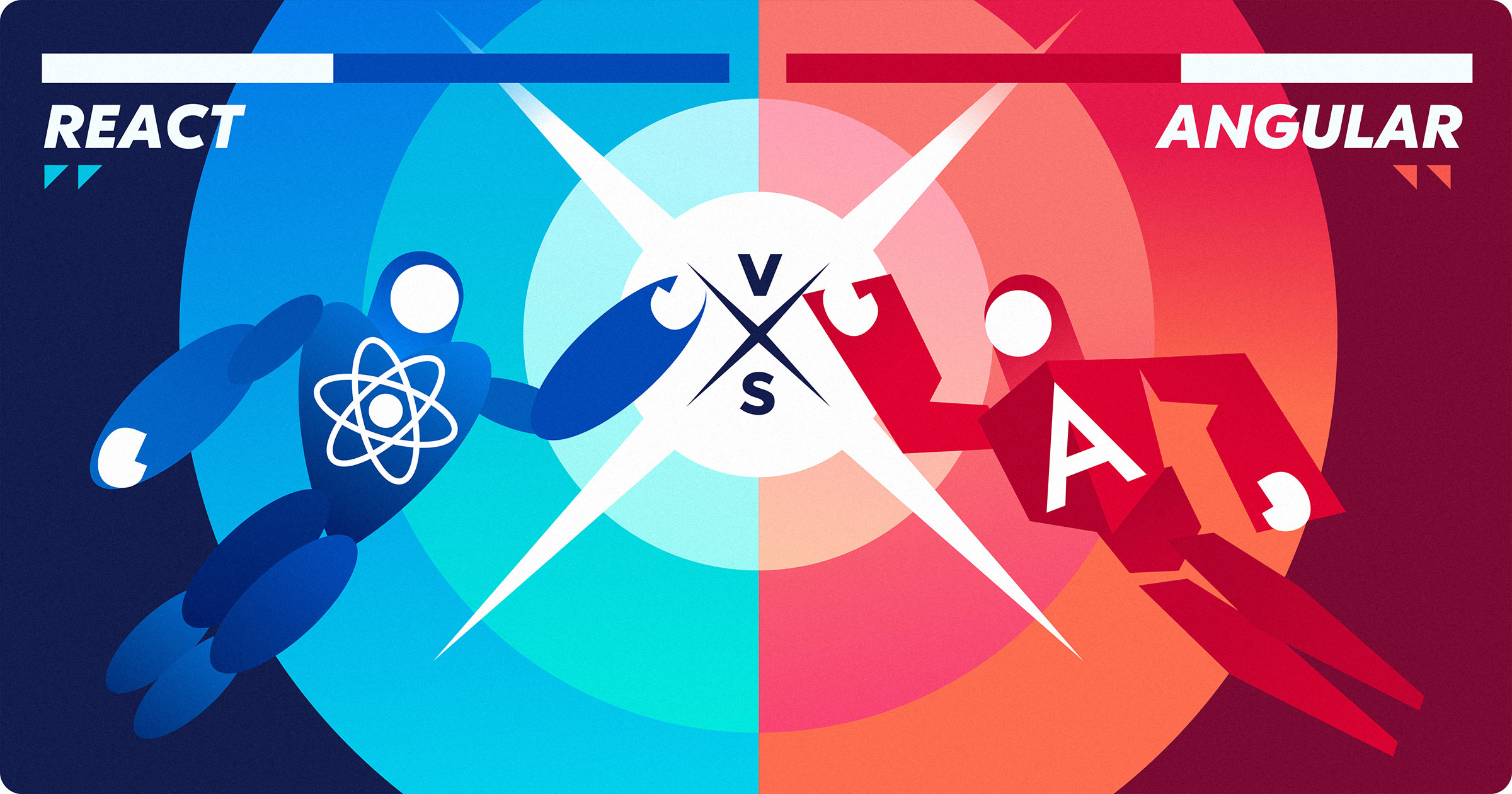 React.js vs Angular Comparison - designs.codes